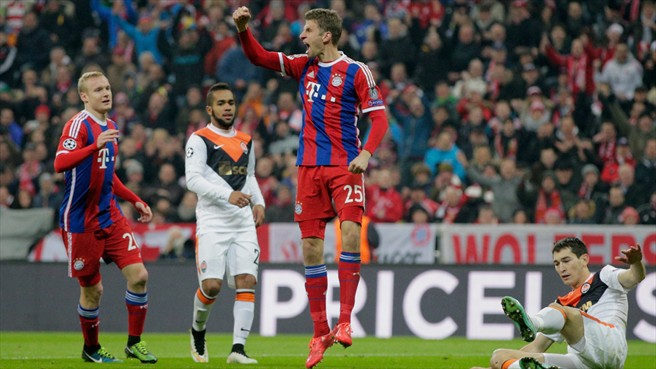 Ciężki nokaut Bayernu na Szachtarze