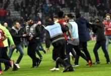 Dantejskie sceny na stadionie Lille, chuligani zaatakowali piłkarzy