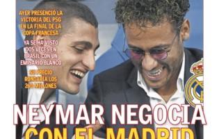 """""""AS"""": Neymar negocjuje z Realem Madryt"""