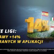Topowa Liga Europejska: +14%