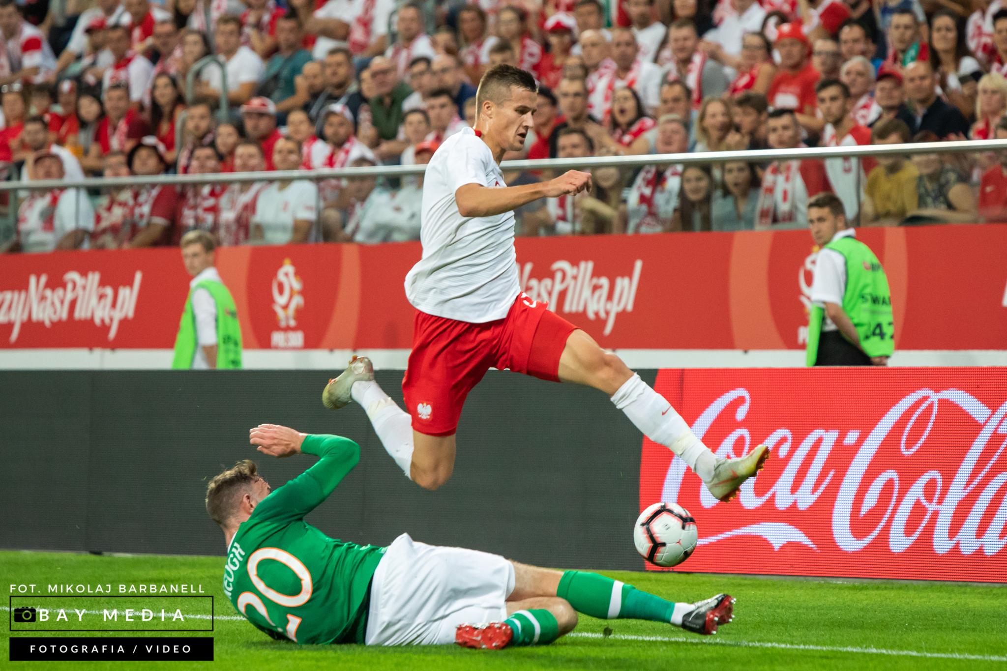 Słaba postawa reprezentacji Polski z Irlandią