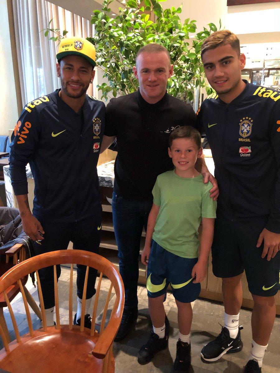 Neymar i Rooney spotkali się w Waszyngtonie