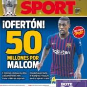 Kluby z Premier League pytają o Malcoma