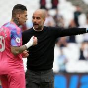 Pep Guardiola niezadowolony z zachowania Edersona