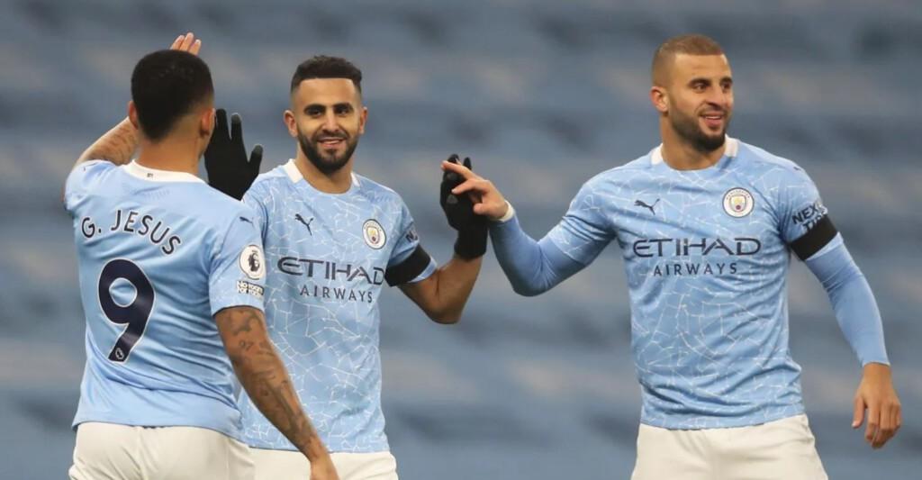Mahrez, Walker, Jesus - Manchester City