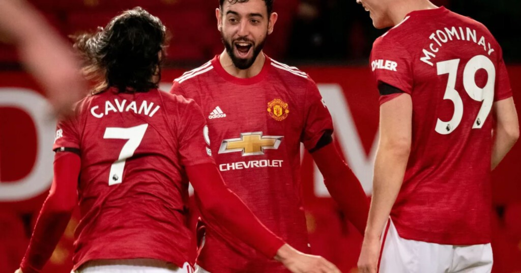 Manchester United, Bruno Fernandes, Edinson Cavani, Scott McTominay