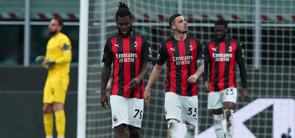 AC Milan Manchester United Europa Leauge 2020/2021 Rade Krunic Franck Kessie